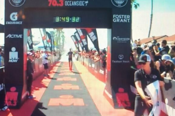 6 April 2019 – Rudi Von Berg second at Ironman 70.3 Oceanside