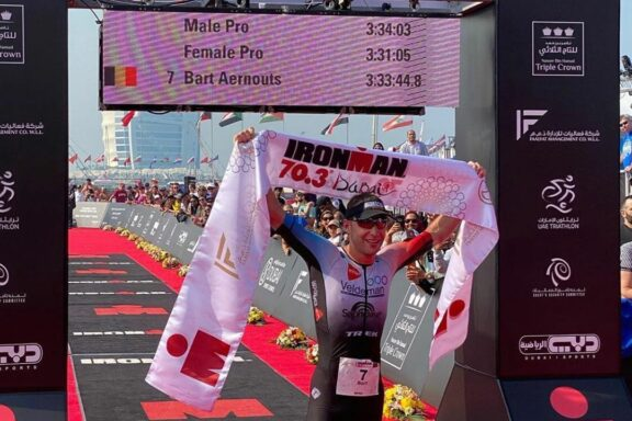 7 Februari 2020 – Bart Aernouts wins at Ironman 70.3 Dubai