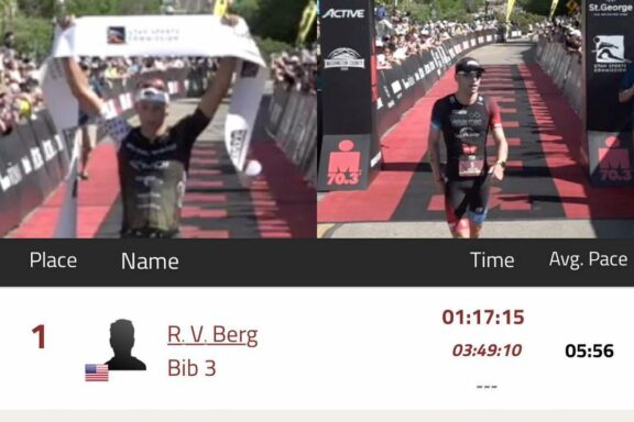 4 May 2019 – Victory for Rudi Von Berg at Ironman 70.3 St. George, Bart Aernouts 2nd